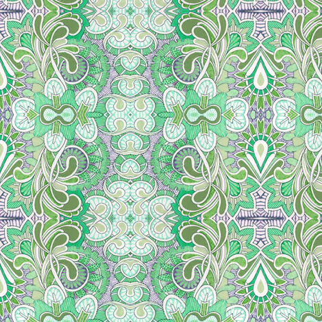 Queen Victoria's closet (green) fabric by edsel2084 on Spoonflower - custom fabric