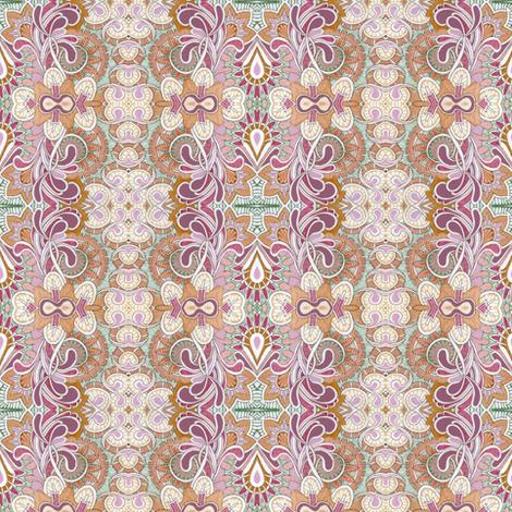 Queen Victoria's closet (orange) fabric by edsel2084 on Spoonflower - custom fabric