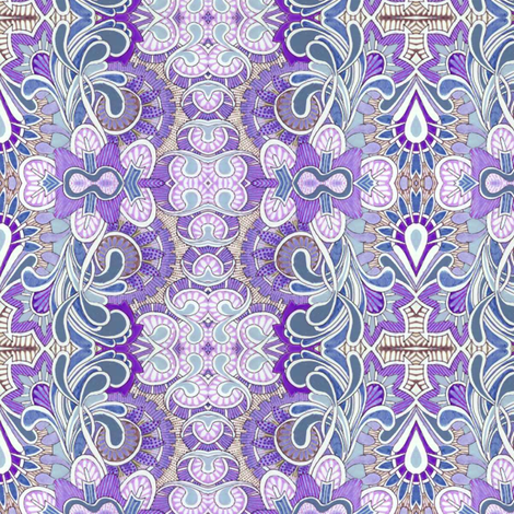 Queen Victoria's closet (lavender) fabric by edsel2084 on Spoonflower - custom fabric