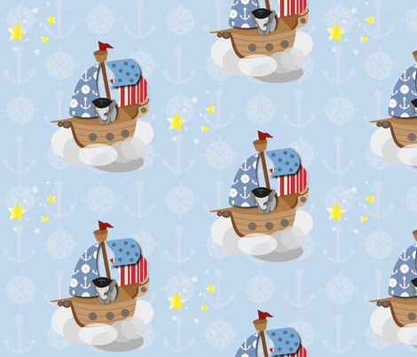elephant pirate fabric by bussybuffu on Spoonflower - custom fabric