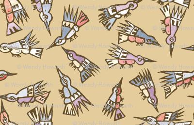Inca Birds Sepia
