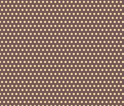 Baby Boy - Polka dots in brown fabric by catru on Spoonflower - custom fabric