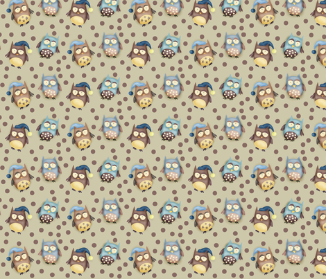 Hoot hoot crew fabric by catru on Spoonflower - custom fabric