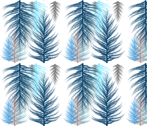 feathers fabric by mermaidgirl on Spoonflower - custom fabric