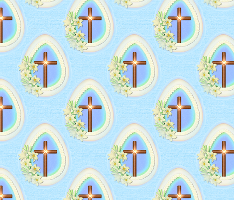 Window Egg Cross fabric by spicetree on Spoonflower - custom fabric