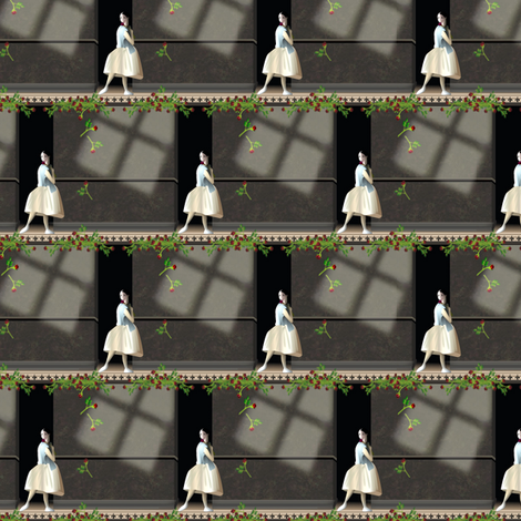 ©2011 ballerina - toneddown fabric by glimmericks on Spoonflower - custom fabric