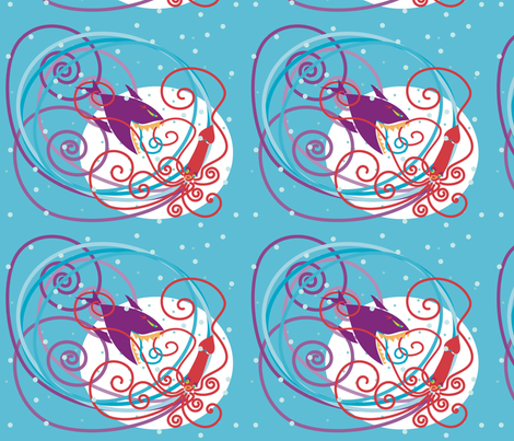 squidandshark fabric by mamo on Spoonflower - custom fabric