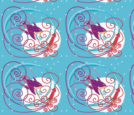 squidandshark fabric by mamo on Spoonflower - custom fabric