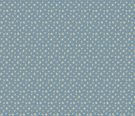 Baby Boy - Stars in blue fabric by catru on Spoonflower - custom fabric