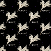 White Pegasus at Night