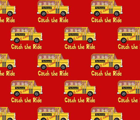 School is Cool - Red fabric by spicetree on Spoonflower - custom fabric