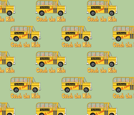 School is Cool - Green fabric by spicetree on Spoonflower - custom fabric
