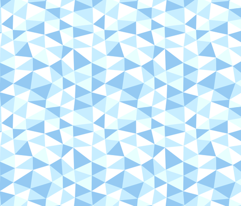 triangle twist - baby blue fabric by flowerpress on Spoonflower - custom fabric