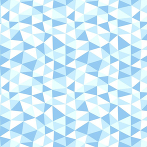 triangle twist - baby blue