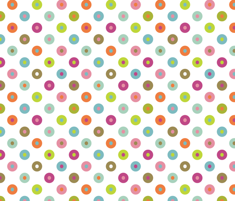 chicken spots fabric by flowerpress on Spoonflower - custom fabric