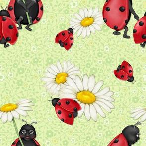 Ladybug Stroll - green