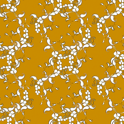 Paisely in Caramel fabric by joanmclemore on Spoonflower - custom fabric