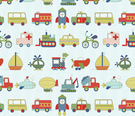 on the go fabric by littlerhodydesign on Spoonflower - custom fabric