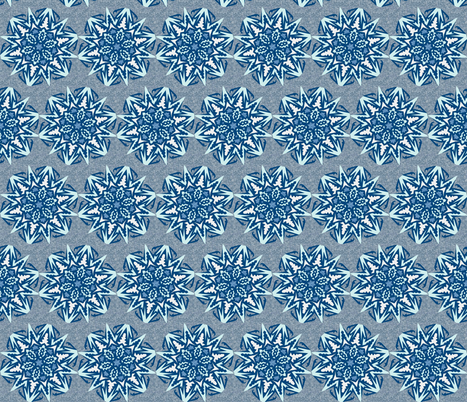Snowflakes – Blue Ice fabric by cricketswool on Spoonflower - custom fabric