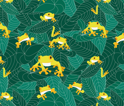The jungle of the frogs fabric by valmo on Spoonflower - custom fabric