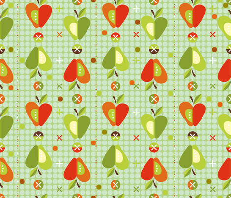 Apple Jacks fabric by cynthiafrenette on Spoonflower - custom fabric