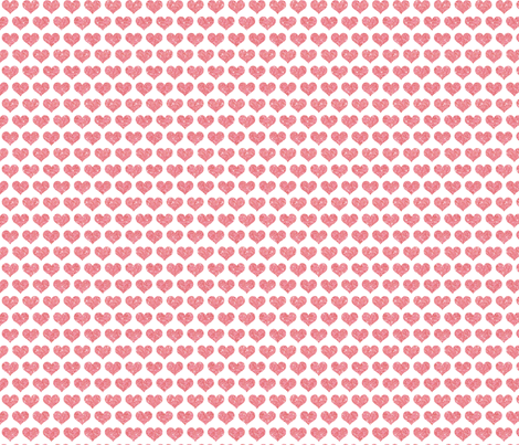 Glitter Hearts Pink fabric by cynthiafrenette on Spoonflower - custom fabric