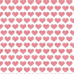 Glitter Hearts Pink