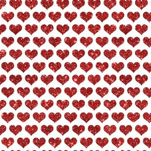 Glitter Hearts Red