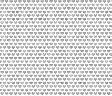 Glitter Hearts Silver fabric by cynthiafrenette on Spoonflower - custom fabric