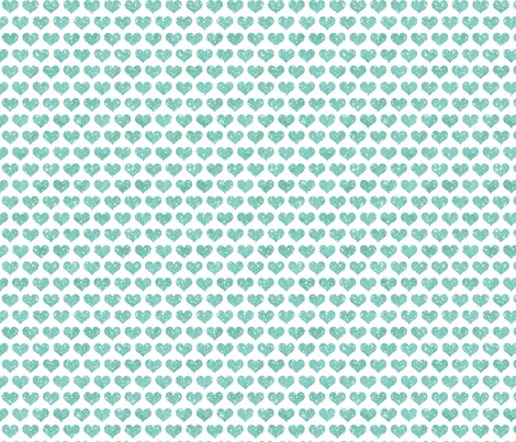 Glitter Hearts Sky Blue fabric by cynthiafrenette on Spoonflower - custom fabric