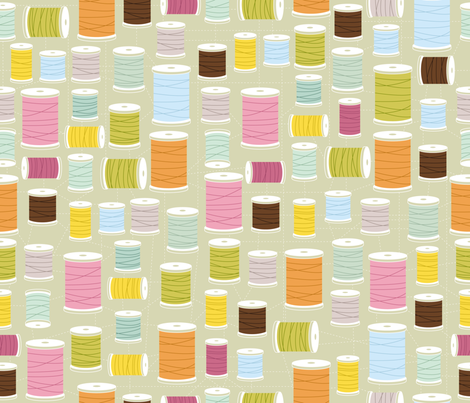 Mod Threads fabric by cynthiafrenette on Spoonflower - custom fabric