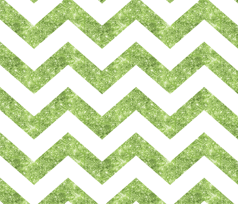 Glitter Chevron Green fabric by cynthiafrenette on Spoonflower - custom fabric