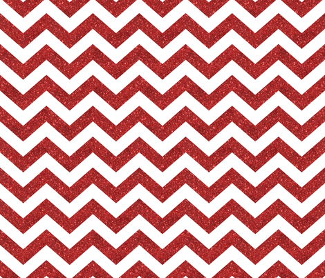 Glitter Chevrons Red fabric by cynthiafrenette on Spoonflower - custom fabric
