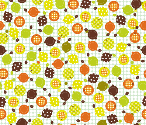 Stitchy Citrus fabric by cynthiafrenette on Spoonflower - custom fabric