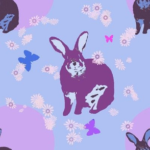 Bunny with Blue
