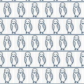 inuit_mini_owl_quilt_blue_on_white_canada