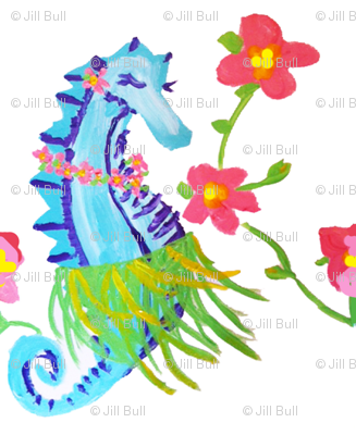 seahorse hula (acrylic) 2012 © Jill Bull