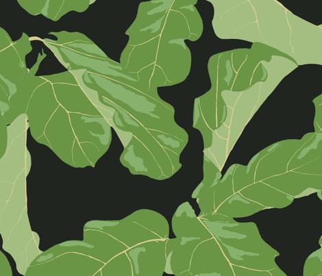 Tropicali Night fabric by domesticate on Spoonflower - custom fabric