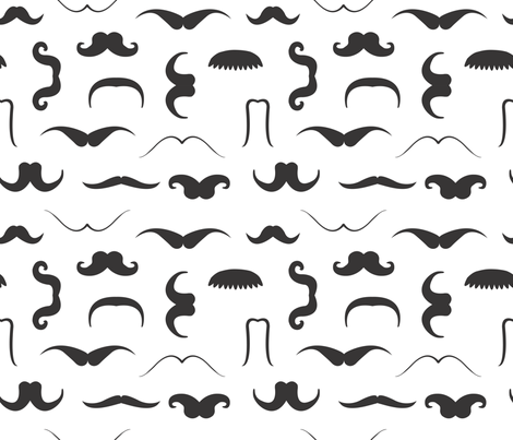 Moustache_1 fabric by illustrative_images on Spoonflower - custom fabric
