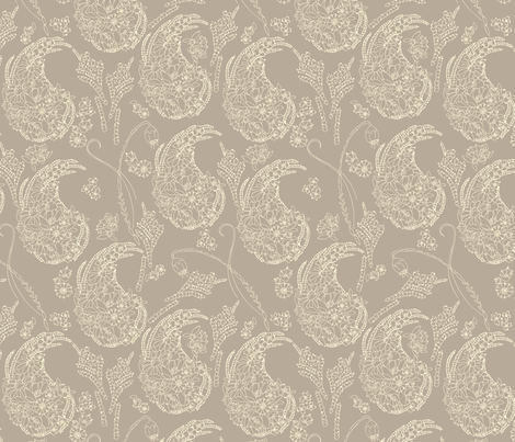 Garden Paisley fabric by marlene_pixley on Spoonflower - custom fabric