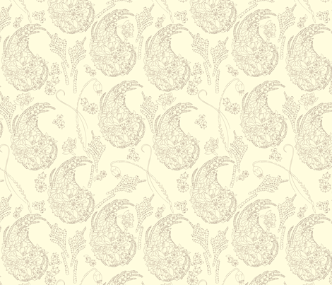 Garden Paisley 2 fabric by marlene_pixley on Spoonflower - custom fabric