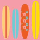 surfboard swell (sunset pink) ©2012 Jill Bull