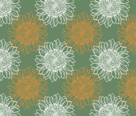 Sunflowers  fabric by woodle_doo on Spoonflower - custom fabric