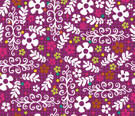 Bollywood Blast fabric by cynthiafrenette on Spoonflower - custom fabric