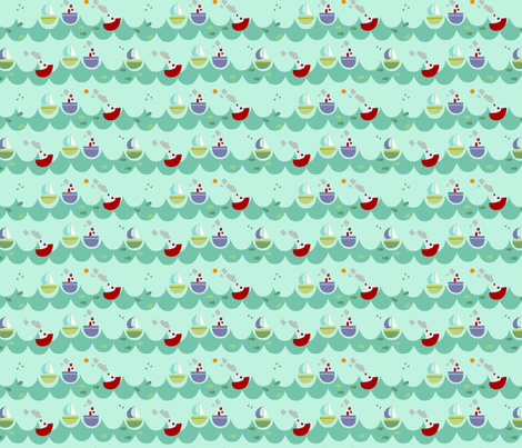 A day at sea fabric by phatsheepfabrics on Spoonflower - custom fabric