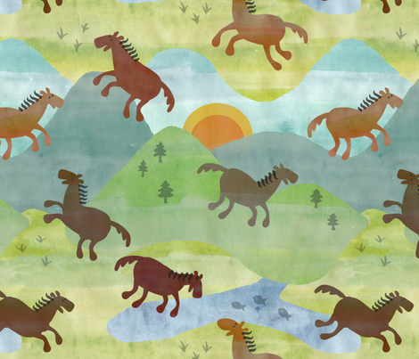 PRETTYHORSESLG fabric by kimkim on Spoonflower - custom fabric