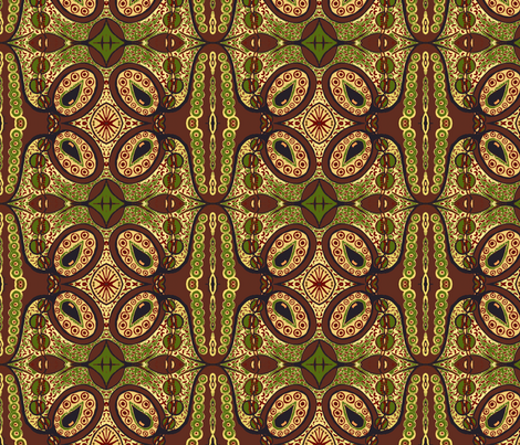 Earth tones tear pod fabric by tallulah11 on Spoonflower - custom fabric