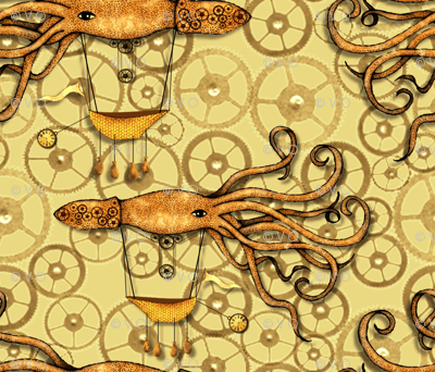 Sailing Steampunk Squid Ships: Say that 5 times fast (zoooom please)