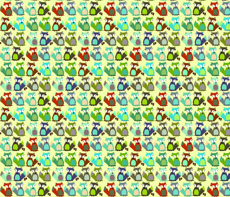 multi_fox fabric by petunias on Spoonflower - custom fabric