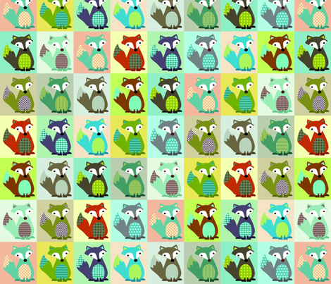 Fox_Tails fabric by petunias on Spoonflower - custom fabric